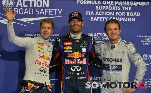 Mark Webber en la Pole Position del GP de Abu Dabi F1 2013 - LaF1