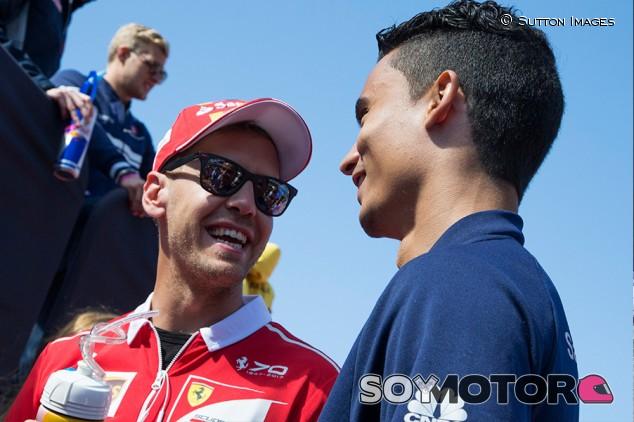 Sebastian Vettel y Pascal Wehrlein en Austin - SoyMotor.com