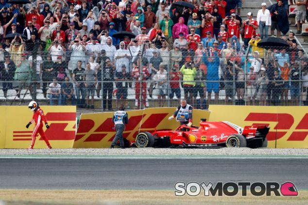 Choque de Sebastian Vettel contra el muro –SoyMotor.com