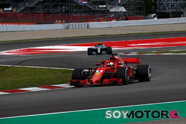 Sebastian Vettel con las gomas medias – SoyMotor.com