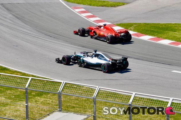 Sebastian Vettel delante de Lewis Hamilton en Canadá – SoyMotor.com