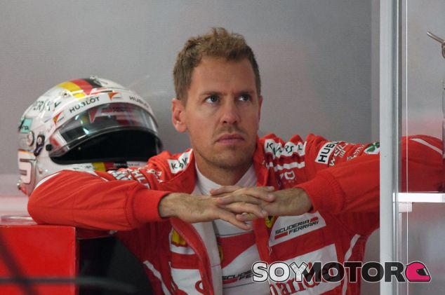 Sebastian Vettel durante la clasificación de Sepang – SoyMotor.com