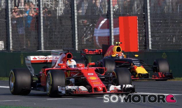 Sebastian Vettel lucha contra un Red Bull en Australia – SoyMotor.com