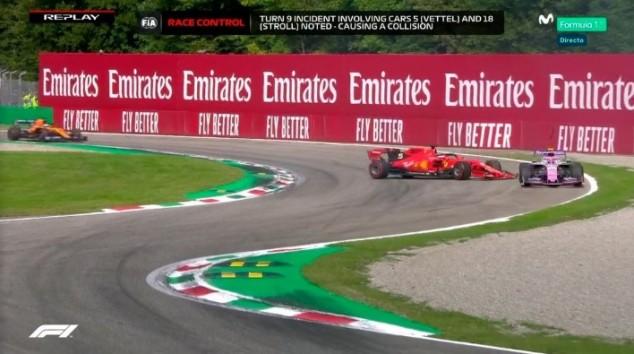 Vettel falla frente a los tifosi: trompo, retorno temerario y sanción - SoyMotor.com