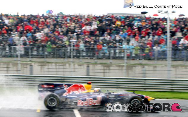Sebastian Vettel durante la inauguración del Red Bull Ring, en 2011