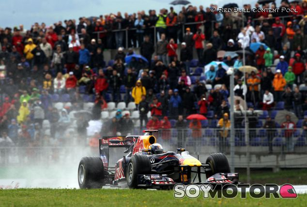 Sebastian Vettel durante la inauguración del Red Bull Ring