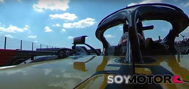 Carlos Sainz y Romain Grosjean en Silverstone - SoyMotor.com