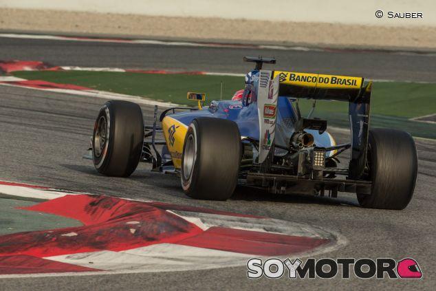 Vista trasera del C35 de Felipe Nasr - LaF1