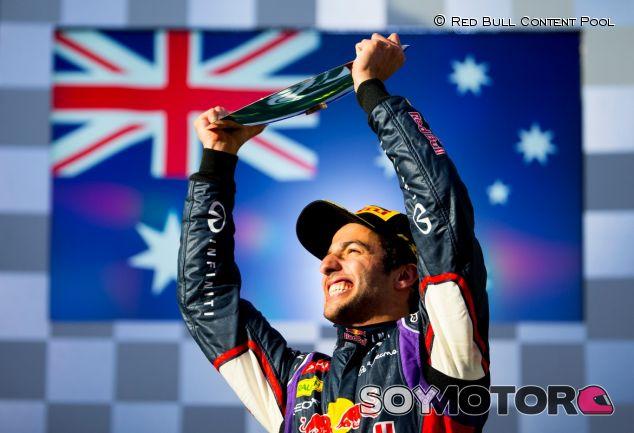 Daniel Ricciardo en el podio del Albert Park - LaF1