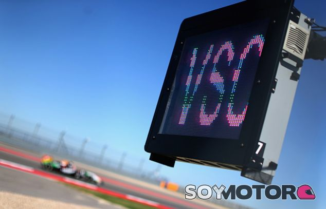 Panel con las siglas del 'Virtual Safety Car' - LaF1