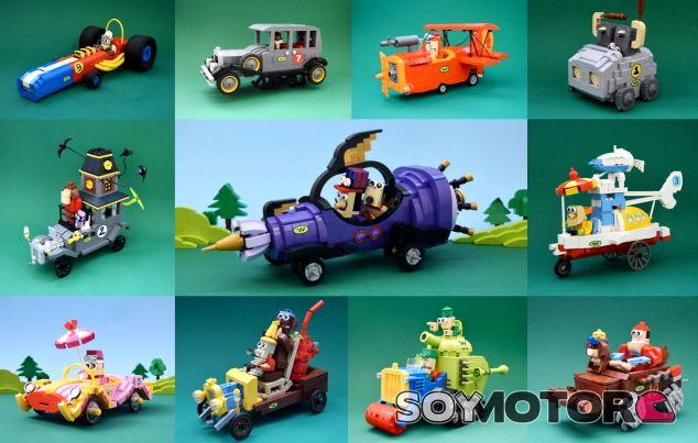 Las figuras de 'Los autos locos' con Lego - SoyMotor