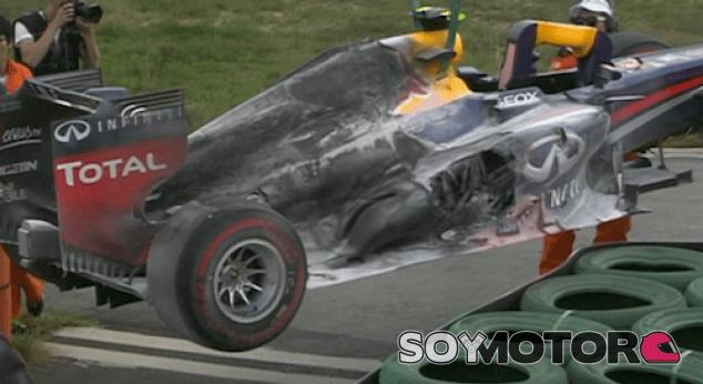 Aasí quedó el Red Bull RB9 de Mark Webbe tras el incendio en Corea - LaF1