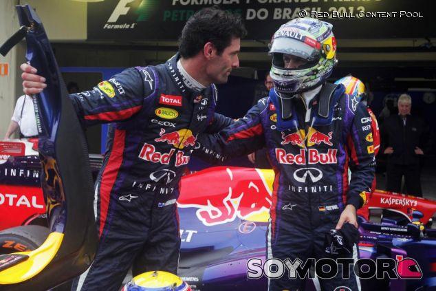 Webber y Vettel en su último en Brasil 2013, su última carrera juntos - LaF1