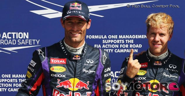 Mar Webber y Sebastian Vettel en el GP de Italia F1 2013 - LaF1
