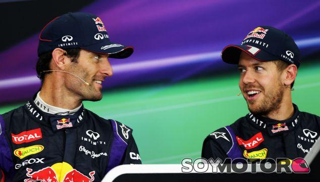 Último Gran premio de Webber como compañero de F1 de Vettel
