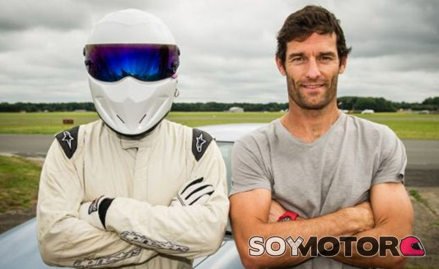 Mark Webber y The Stig