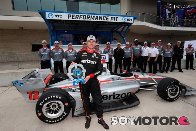Will Power festeja la Pole Position en Austin - SoyMotor