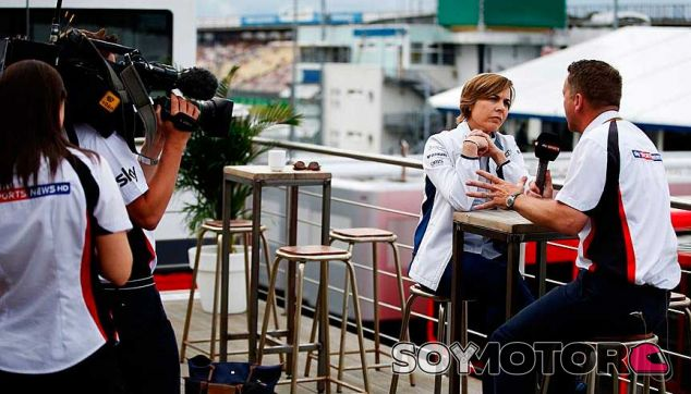 Claire Williams en una imagen de archivo del GP de Alemania - LaF1