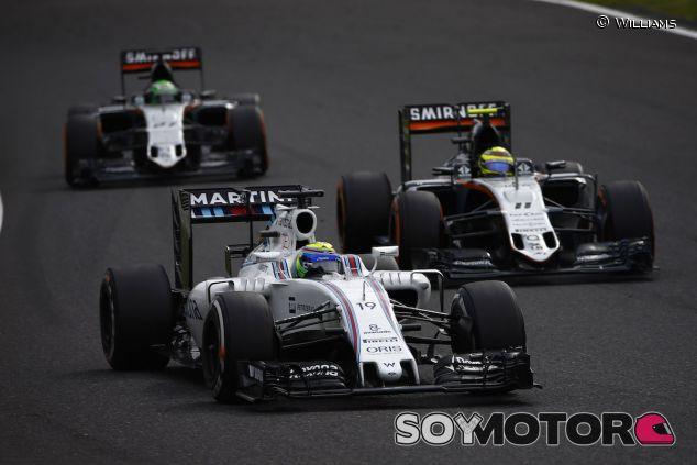 Felipe Massa delante de Sergio Pérez y Nico Hülkenberg - LaF1