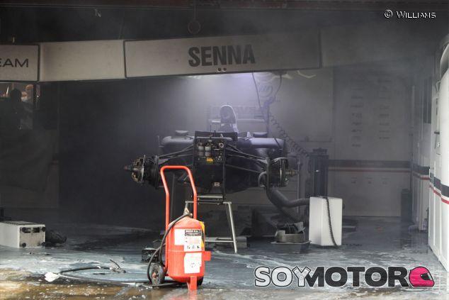 Box de Williams después del incendio de España 2012 - LaF1