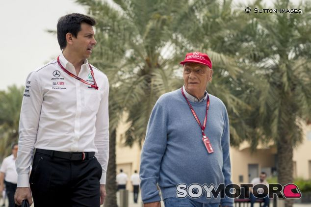 Toto Wolff y Niki Lauda - SoyMotor.com