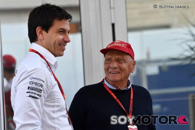 Toto Wolff y Niki Lauda en Austin - SoyMotor.com