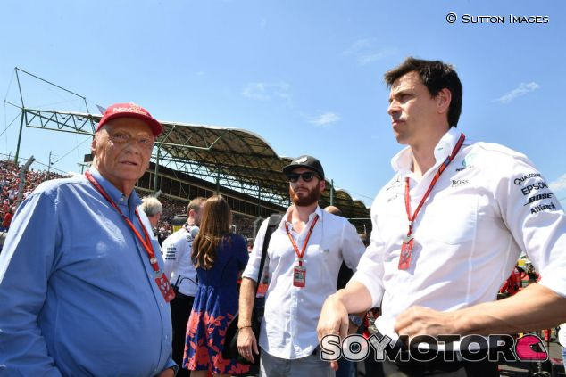 Niki Lauda y Toto Wolff en Hungría - SoyMotor