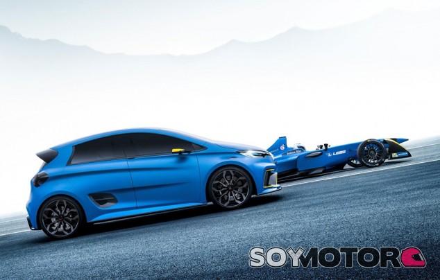 Renault Zoe E-sport Concept junto al Renault e.dams de Fórmula E – SoyMotor.com