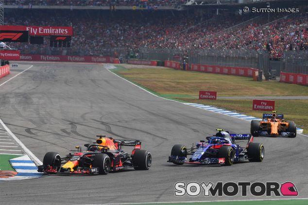 Daniel Ricciardo y Pierre Gasly en Hockenheim - SoyMotor.com