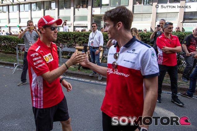 Sebastian Vettel y Charles Leclerc en Milán - SoyMotor.com