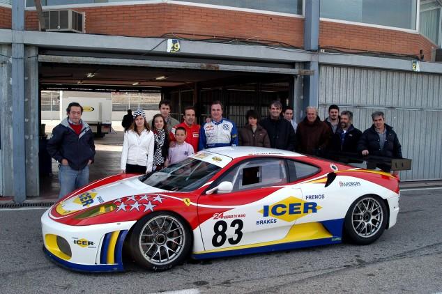 El primer Ferrari al que se subió Carlos Sainz