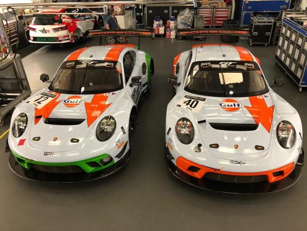 Monlau Competición gestiona los Porsche de GPX Racing con los colores de Gulf Racing - SoyMotor.com