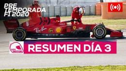 F1 2020 Test Pretemporada, día 3 - Resumen Jornada
