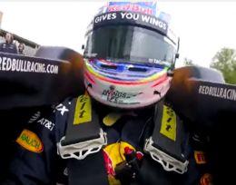 Onboard de Ricciardo durante un evento en Houston