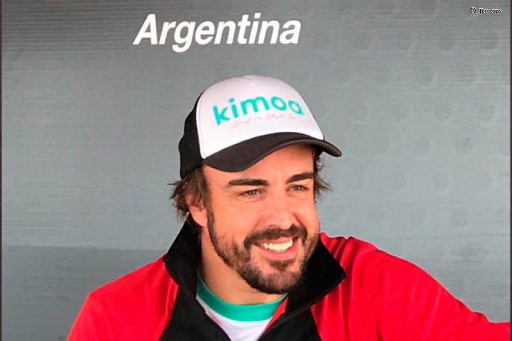 Alonso pilotó un Toyota de STC2000 en Buenos Aires