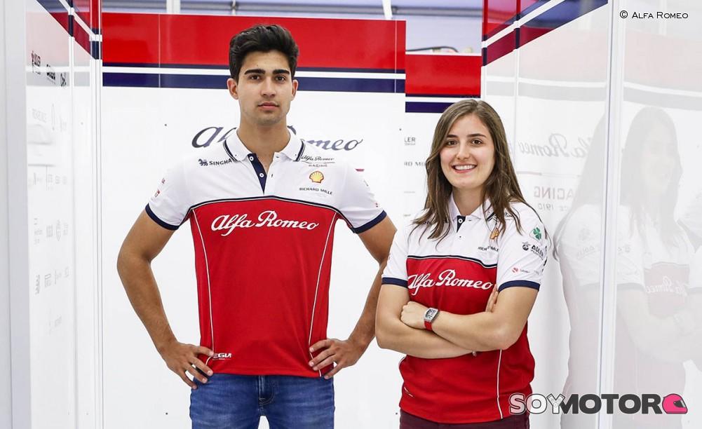 Tatiana Calderón y Juan Manuel Correa probarán con Alfa Romeo