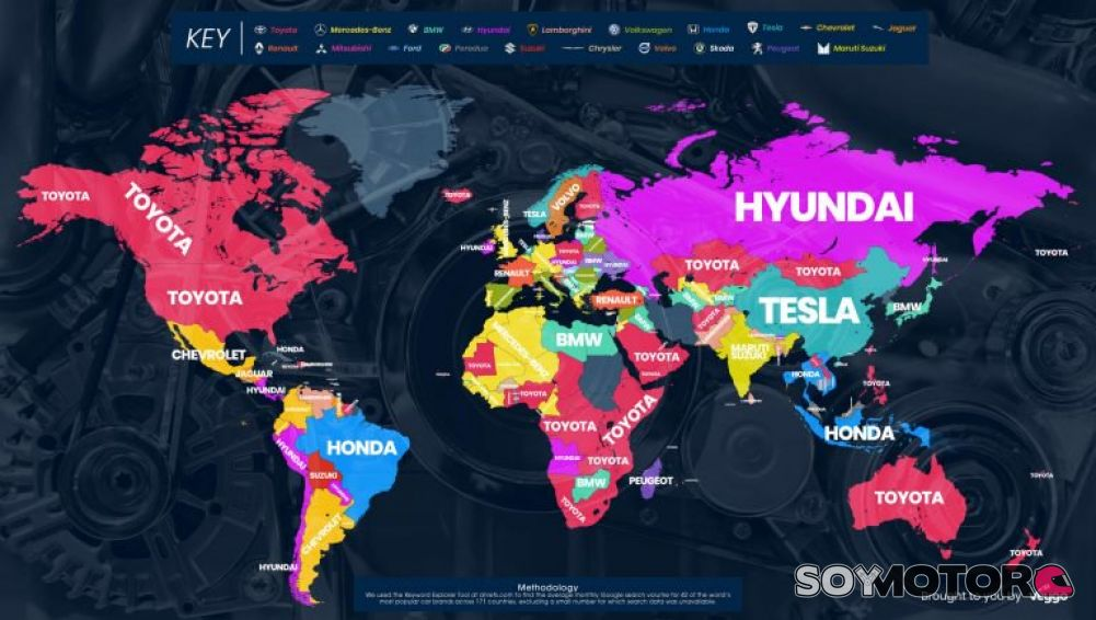 Las marcas de autos más buscadas en 2018 en todo el mundo