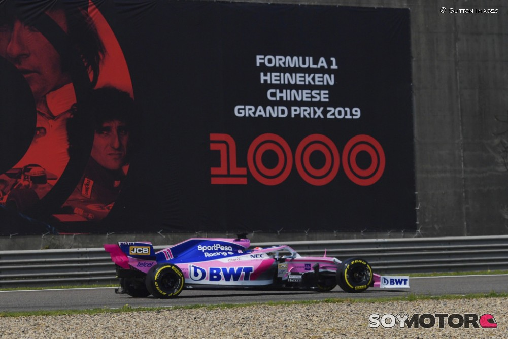 Racing Point en el GP de China F1 2019 Viernes