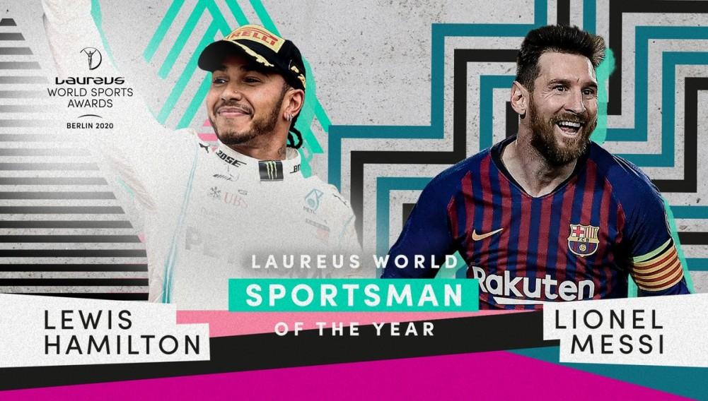 Lionel Messi y Lewis Hamilton comparten Premio Laureus en Berlín