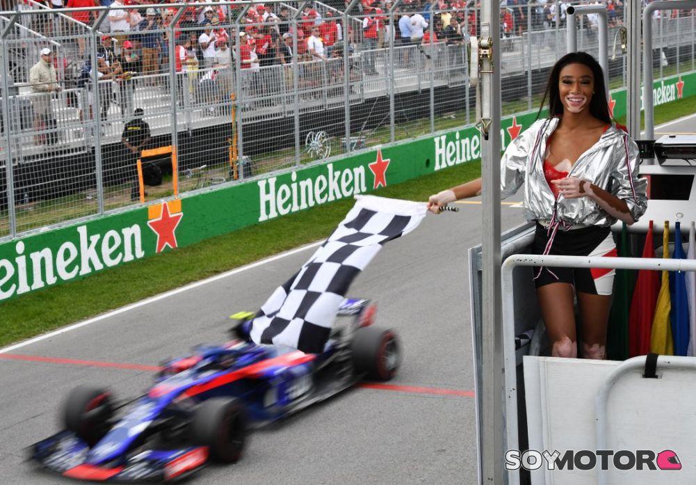 El GP de Canadá terminó antes por error de una modelo