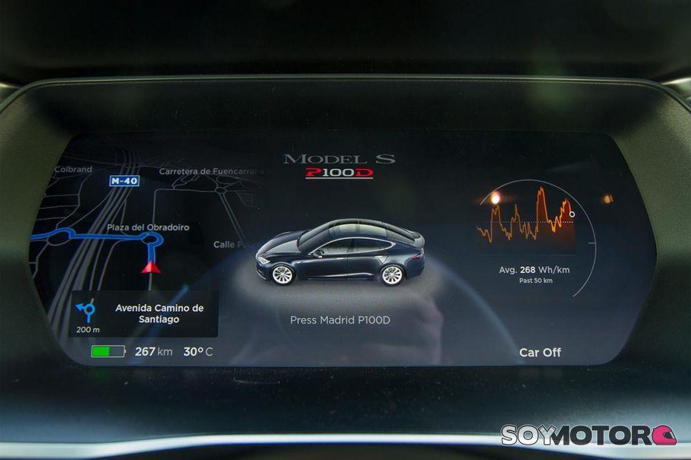 Cuadro de mandos Tesla Model S P100D