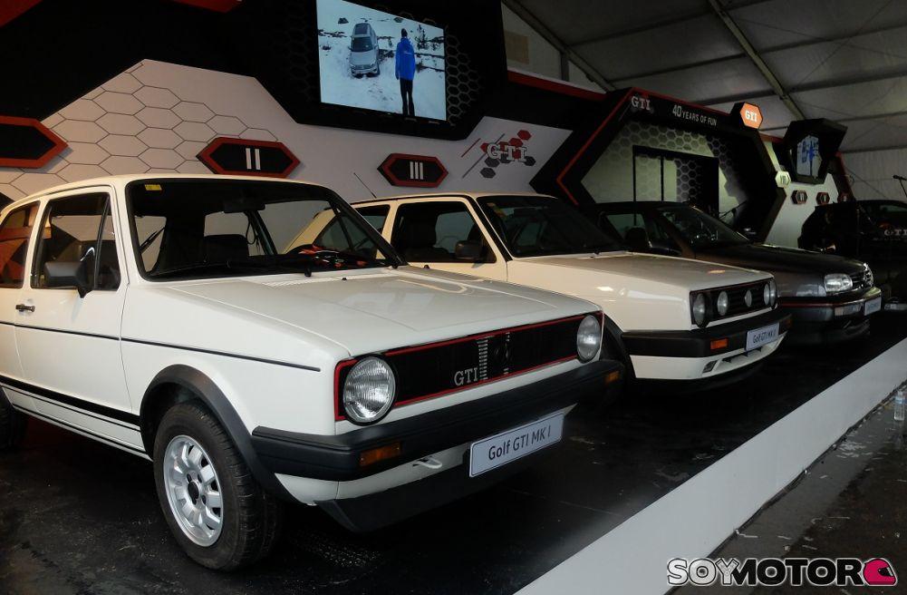 GTI Day Exposición 7 generaciones VW Golf GTI