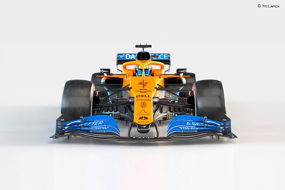 El nuevo McLaren MCL35 de Norris - SoyMotor.com