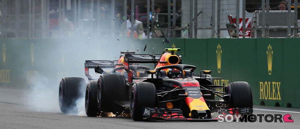 Choque entre los Red Bull en Azerbaiyán - SoyMotor