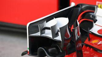Ferrari está probando una pequeña variación en el alerón delantero - LaF1