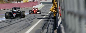 Alonso y Räikkönen en Montmeló - LAF1