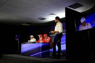 Valtteri Bottas, Sebastian Vettel y Kimi Räikkönen en Brasil - SoyMotor.com