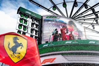 Charles Leclerc en el podio del GP de Italia F1 2019 - SoyMotor.com