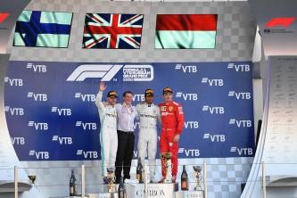 Podio del GP de Rusia F1 2019 - SoyMotor.com