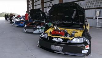 Ocho Honda Civic y más de 4000 caballos - SoyMotor.com